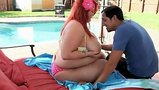 Bbw, Chubby, Big boobs, Outdoor, Pornstars
