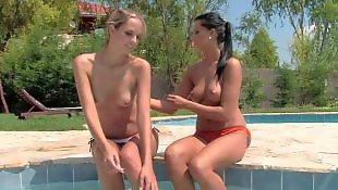 Lesbian pool, Melissa