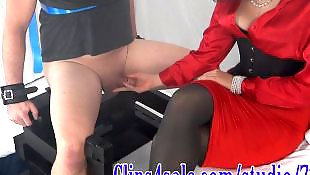 Milf stockings, Bondage, Stocking handjob, Milking, Milf handjob, Mommy
