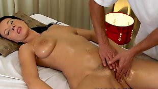 Natural tits, Massage room, Oil, Tit fuck, Natural, Oil massage