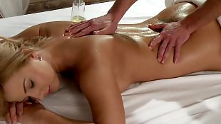 Massage room, Oil, Big tits, Young busty, Young girls, Tit fuck
