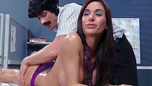 Brazzers, Massage, Dirty feet, Desk