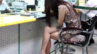 Legs, Voyeur, Asian amateur, Asian, Leggings, Leg