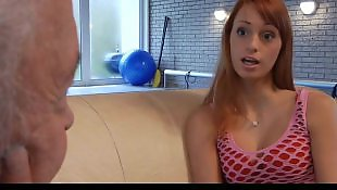 Casting, Old, Teen casting, Redhead, Old men, Young