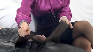 Milf stockings, Pantyhose, Tease, Stocking handjob, Pantyhose handjob, Teasing handjob