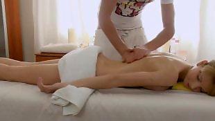 Teen massage, Russian teen, Massage, Long legs, Leggings, Oil