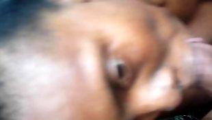 Ebony blowjob, Ebony, Gagging, Ebony facial