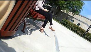 Leggings, Candid, Legs, Voyeur, Amateur stockings