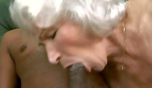 Granny, Granny norma, Leather, Granny orgasm, Hanging tits, Hairy orgasm
