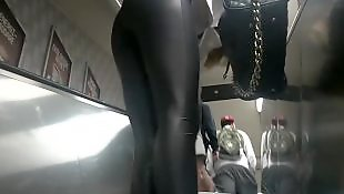 Leather, Leggings, Legs, Flash, Voyeur, Flashing