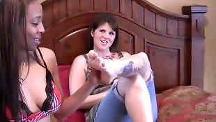 Foot worship, Foot fetish, Stockings, Lesbian, Lesbian foot, Lesbian foot worship