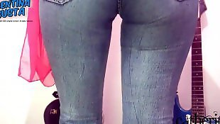 Cameltoe, Jeans, Round ass