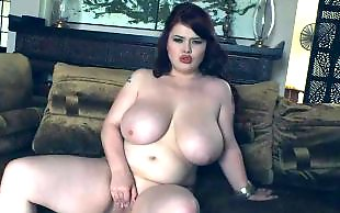 Bbw, Chubby, Redhead, Chubby stockings, Bbw stockings