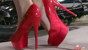 Masturbating heels, Lipstick, Melody jordan, Stiletto