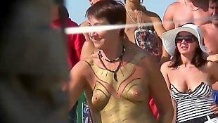 Nudist, Public, Beach voyeur, Voyeur beach, Nude, Nude beach