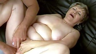 Mature amateur, Old and young, Granny orgasm, Mature orgasm, Hanging tits, Fat mature