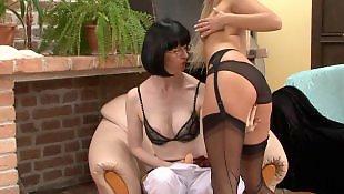 Lesbians stockings, Stocking dildo, Lesbian dildo, Stockings dildo, Lesbian strap on, Deep throat