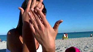 Лесбиянки крупный план, Лесби бикини пляж