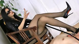 Mistress, Asian stockings, Smoking, Asian, Asian foot, Mistress t