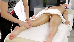 Teen massage, Missionary, Doggystyle, Pussy massage, Massage