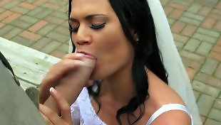Pov blowjob, Bride, Jasmine jae, Public blowjob, Brazzer, Busty pov