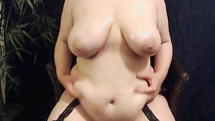 Oil, Bbw masturbation, Big tits, Chubby masturbation, Oiled, Bbw masturbating