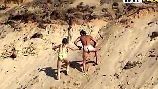 Beach, Nude beach, Public nude, Nude in public