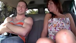 Teen handjob, Pick up, Bang bus, Bus
