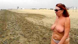 Beach, Walking, Mature amateur, Mature, Mature beach, Nudist beach