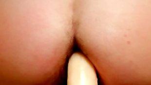 Hairy dildo, Hairy close up, Hairy brunette, Close up dildo, Anal, Anal dildo