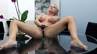 Mature masturbation, Pov milf, Glasses, Mature amateur, Mature pov, Table