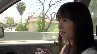 Asian ass, Car blowjob, Car