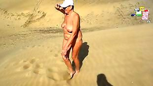 Walking, Flashing, Nude, Mature, Mature amateur, Nude in public