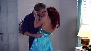 Порно в рыжую пизду, Порно в платьях, В синем платье, В платье, В длинном платье, В отеле