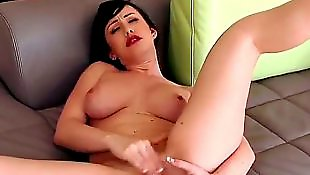 High heels solo, Jennifer white, Big tits solo, Busty masturbation