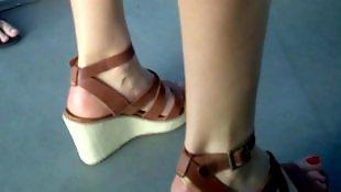 Candid, Shoes, Sexy feet, Voyeur