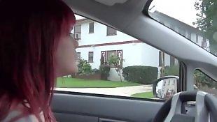 Tease, Emo, Car, Teasing, Redhead teen