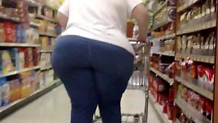 Chubby ass, Voyeur, Bbw granny, Mature, Gilf, Bbw