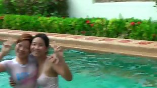 Voyeur, Asian amateur, Asian, Pool, Asian voyeur
