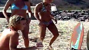 Reality king, Reality kings lesbian, Beach, Lesbian beach, Beach sex