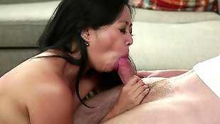 Asian milf, Asian, Young, Old, Stepmom, Asian blowjob