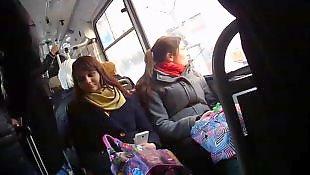 Public, Bus, Amateur, Flashing, Flash, Nudist