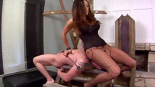Corset, Domination, Mature, Milf stockings, Foot domination, Fishnet