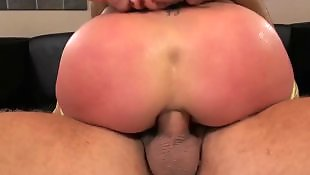 Oil, Hard, Hardcore, Blonde, Bubble butt, Anal