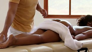 Massage, Private, Ebony pov, Oil, Ebony massage, Ass massage
