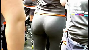 Leggings, Legs, Big butt, Butt