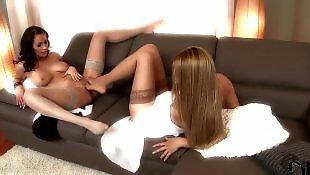 Nylons, Lesbian foot, Lesbian pussy lick, Nylon, Lesbian fingering, Lesbian nylon