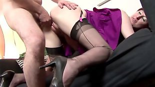 Doggystyle, Mature, Mature fuck, Mature stockings