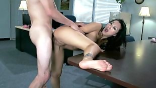 Asian, Office, Asa akira, Asian anal, Flexible, Boss