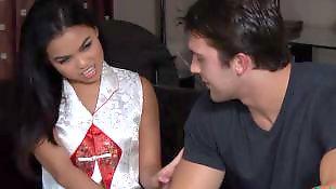 Teen massage, Asian teen, Asian interracial, Cindy starfall